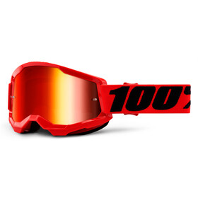 100% Strata Anti-Fog Goggles Gen2 red/mirror